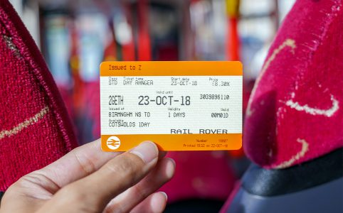 写真:鉄道駅で購入したCotswolds Discoverer One Day Pass