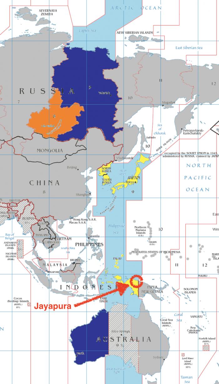 画像 日本とジャヤプラのタイムゾーンを示す地図
